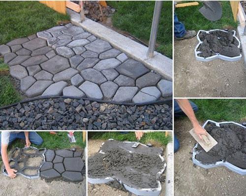 DIYで外構エクステリア   庭のコンクリート土間舗装