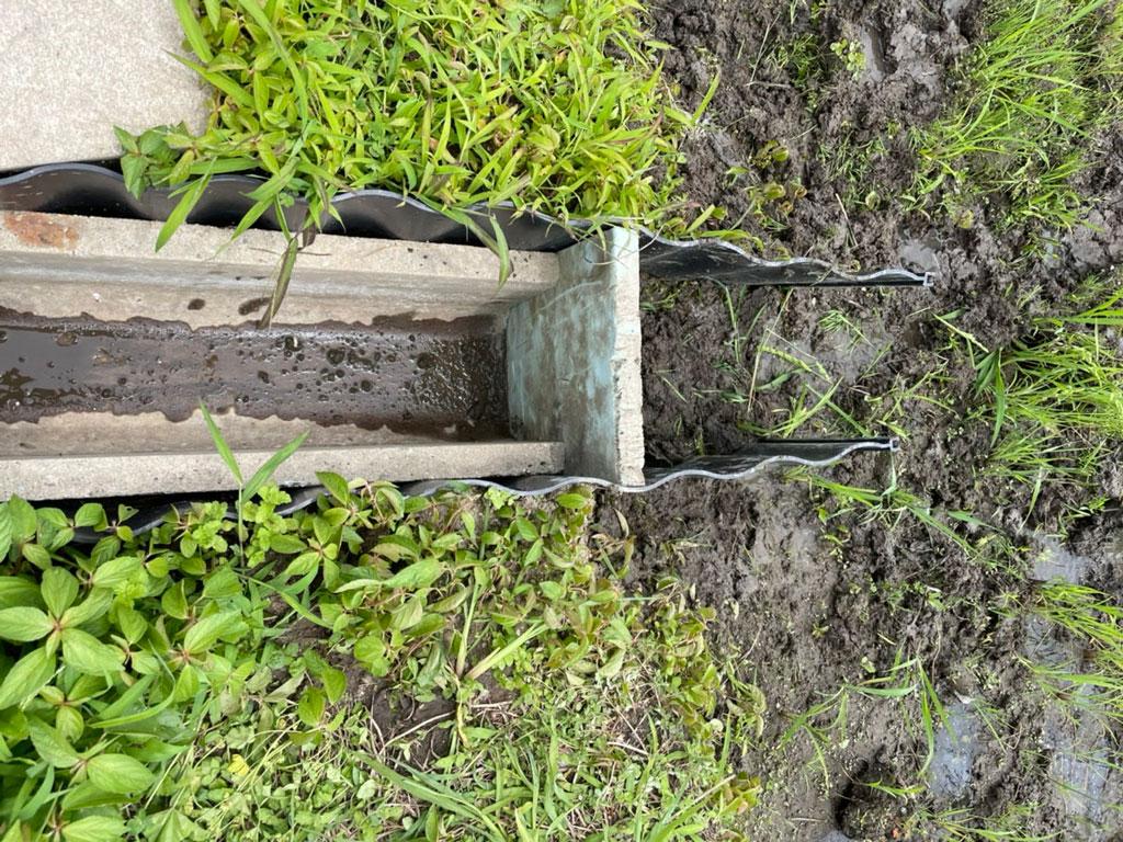 水口、水尻の点検整備